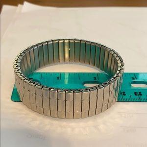 Silver tone watch band bracelet - stretchy!